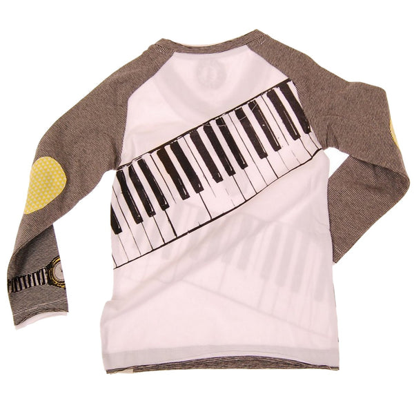 On Tour Keyboardist Baby Raglan Shirt by: Mini Shatsu