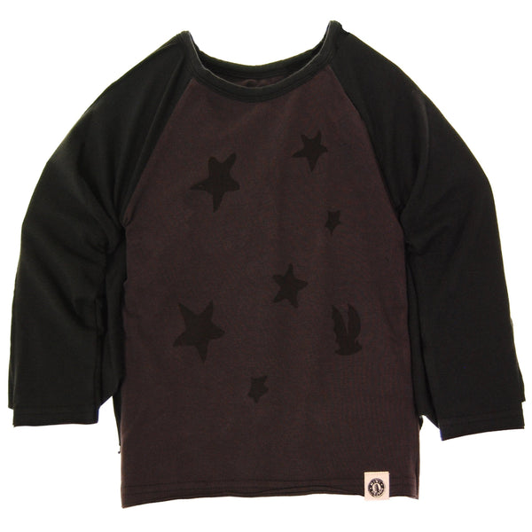 Flying Bat Caped Raglan T-Shirt by: Mini Shatsu