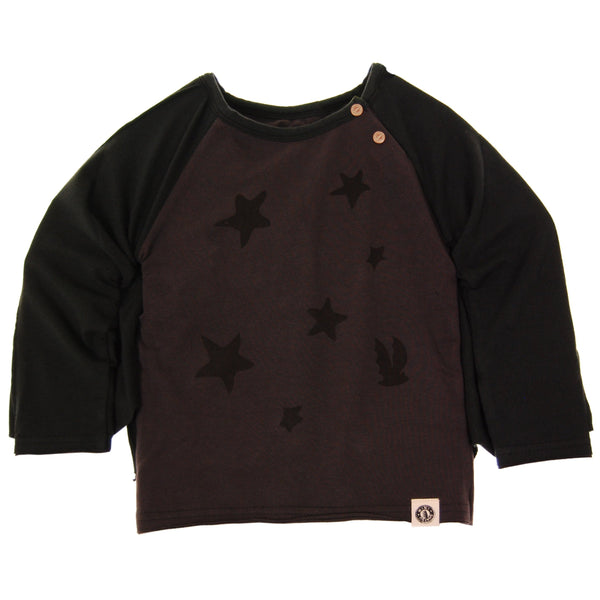 Flying Bat Caped Raglan Baby T-Shirt by: Mini Shatsu