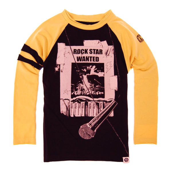 Rock Star Wanted Raglan by: Mini Shatsu