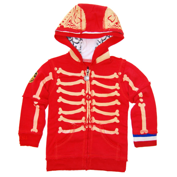 Rad To The Bone Baby Hoody by: Mini Shatsu