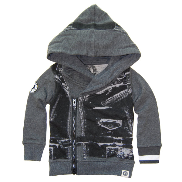 Leather Vest On Tour Baby Hoody by: Mini Shatsu