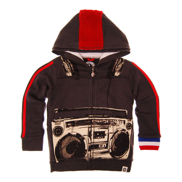 Boom Box Baby Hoody by: Mini Shatsu