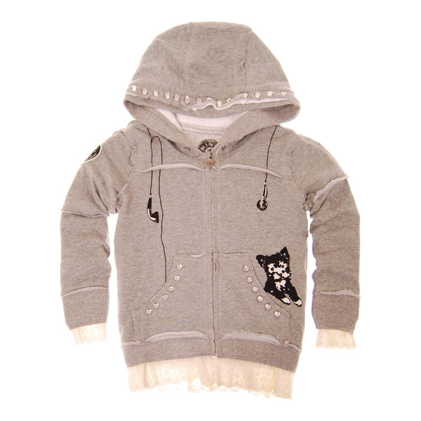 Puppy Lace  Baby Hoody by: Mini Shatsu