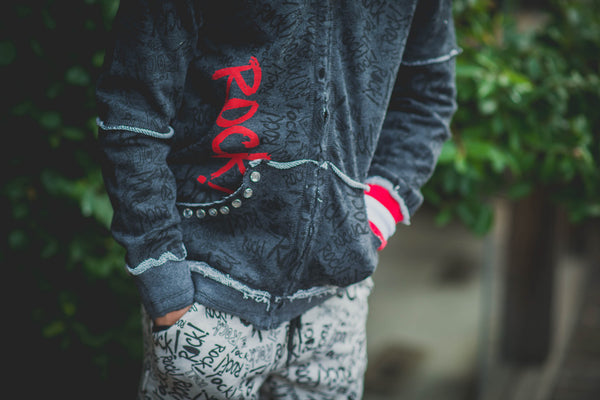 Rock Graffiti Headphone Hoody by: Mini Shatsu