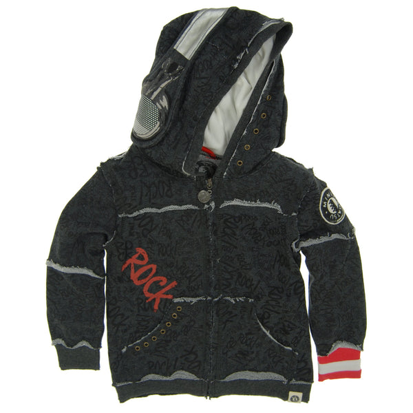 Rock Graffiti Headphone Baby Hoody by: Mini Shatsu