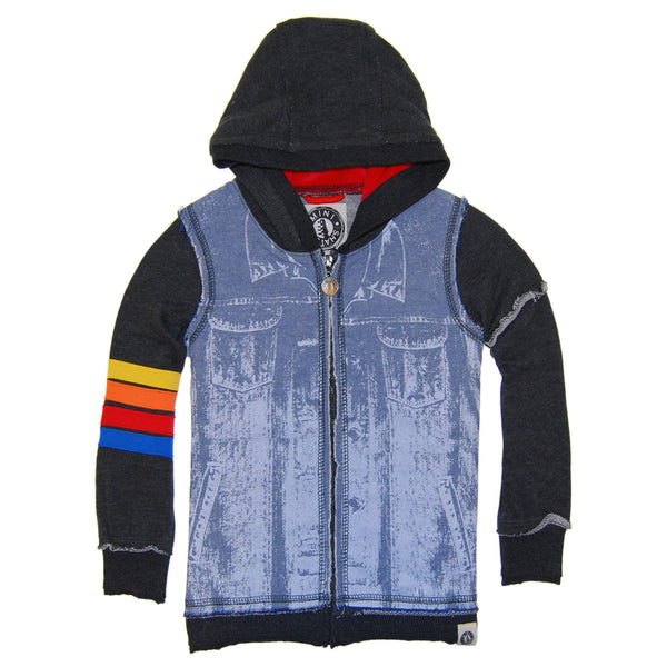Vintage Denim Vest Baby Hoody by: Mini Shatsu