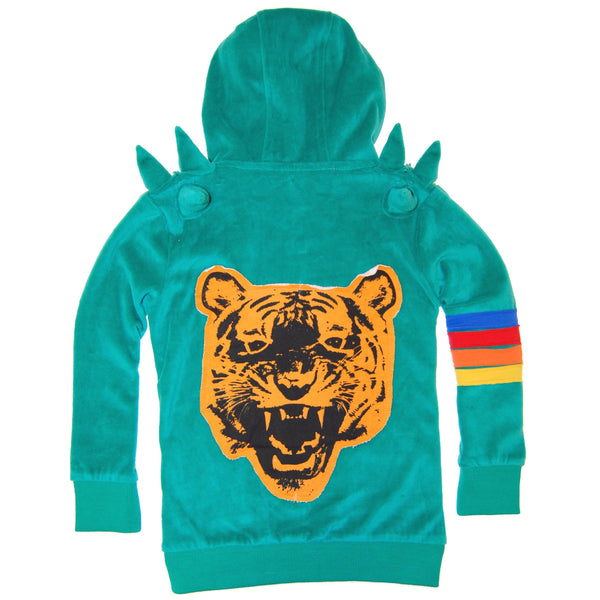 Green Tiger Spike Hoody by: Mini Shatsu