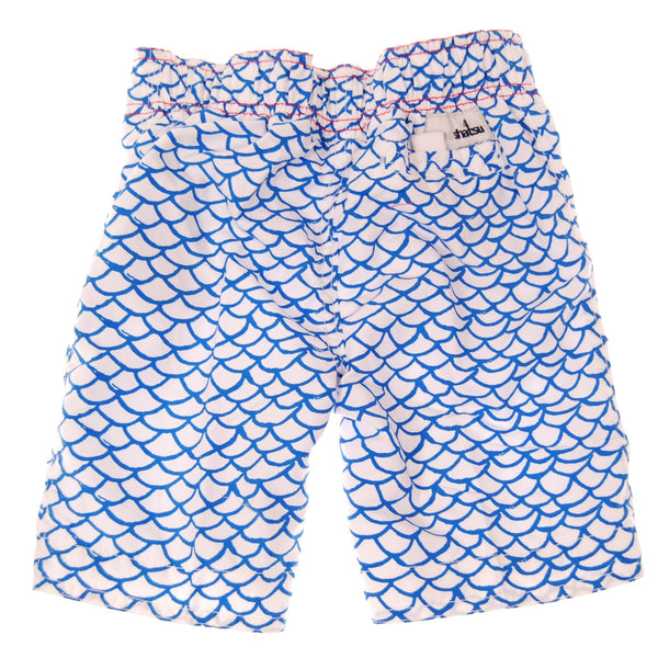 Blue Fish Board Shorts by: Mini Shatsu