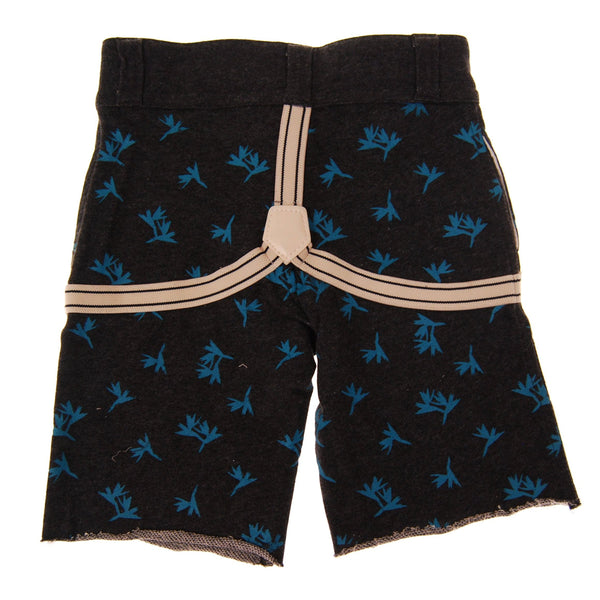 Birds of Paradise Suspenders Baby Shorts by: Mini Shatsu