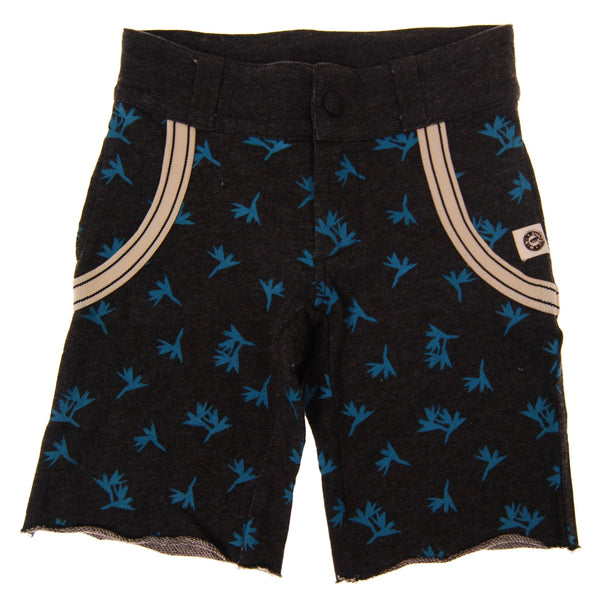 Birds of Paradise Suspenders Shorts by: Mini Shatsu