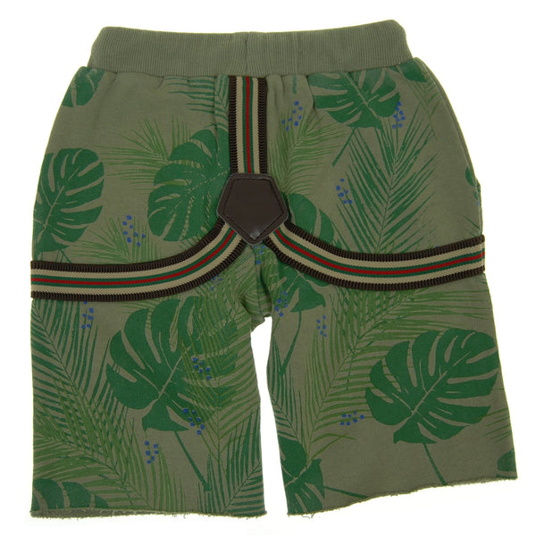 Tropical Forest Suspenders Baby Shorts by: Mini Shatsu
