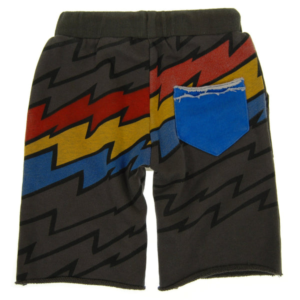 Lightning Speed Stripe Baby Shorts by: Mini Shatsu