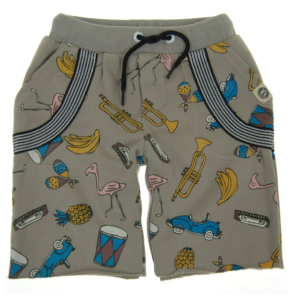 Havana Summer Suspenders Baby Shorts by: Mini Shatsu