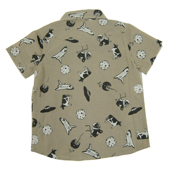 Out Of This World Bow Tie Baby Button Down Shirt by: Mini Shatsu