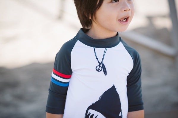 Shark Surf Baby Rash Guard by: Mini Shatsu