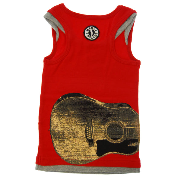 Lightening Guitar Tank Top Shirt by: Mini Shatsu