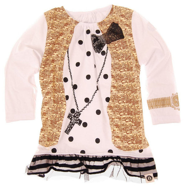Polka Dot & Sequins Vest Baby Tunic by: Mini Shatsu