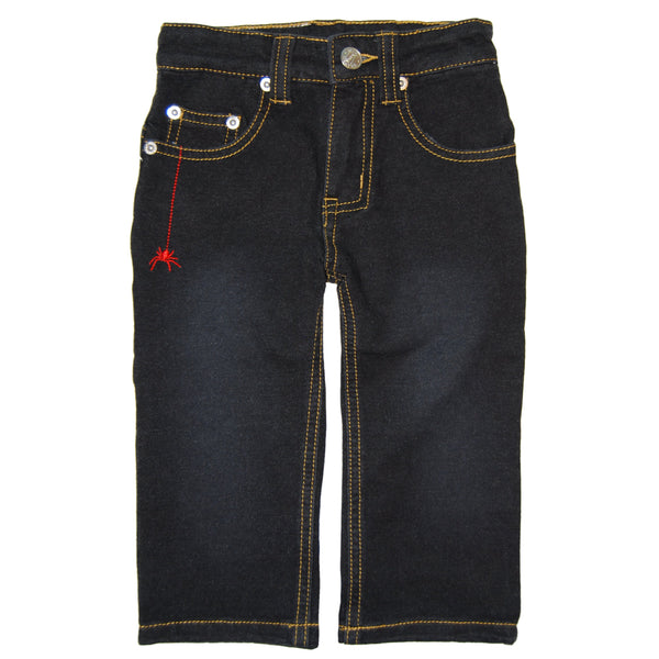 Webster Black Washed French Terry Baby Jeans by: Mini Shatsu