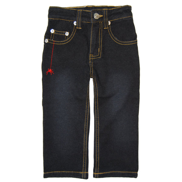 Webster Black Washed French Terry Jeans by: Mini Shatsu
