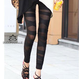 Fashion Patchwork Leggings Dress Pants