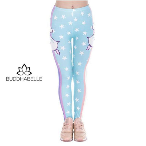 Unicorn Stars Print Legging Athletic