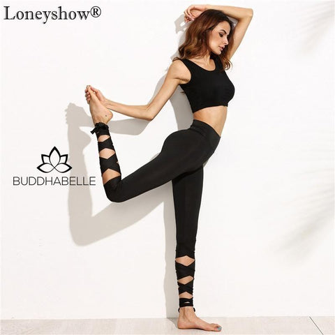 Lace Up Leggings Athletic