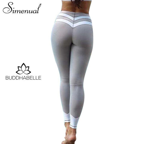 Striped Splice Fitness Legging Athletic