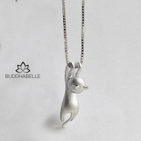 Tiny Cute Cat Pendant & Necklace For Women Jewelry