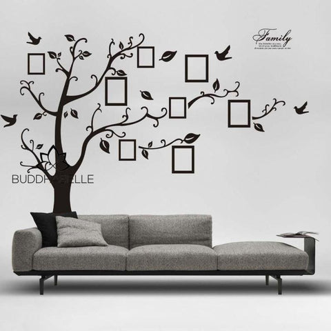 3D Photo Tree Wall Decals Art