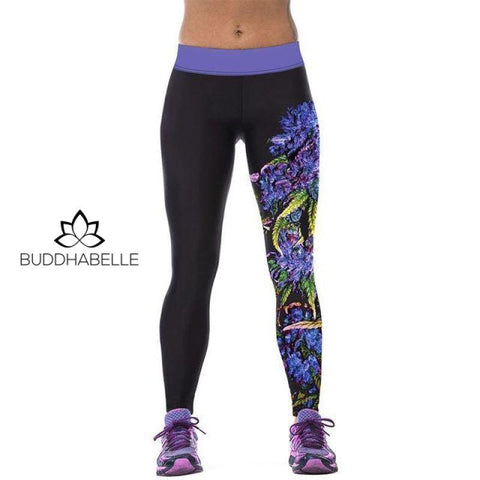 Cartoon Theme Workout Pants Flowers / One Size Athletic