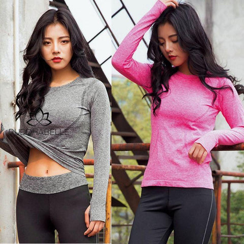 Yoga Long Sleeve Compression Shirts Athletic