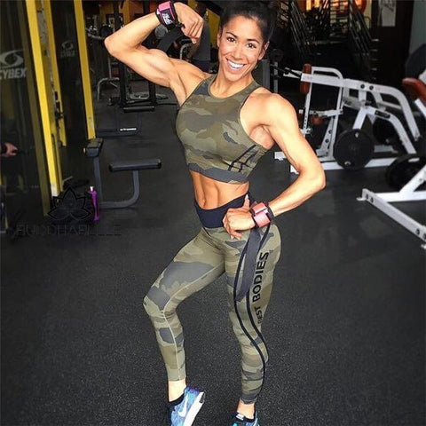 Best Bodies Camouflage Two Piece Set Athletic
