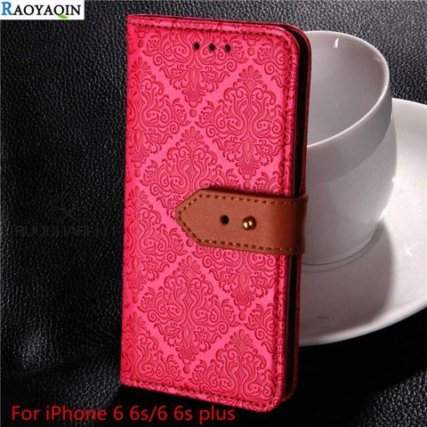 Luxury Leather Wallet Case For Iphone Cell Phone Accessories