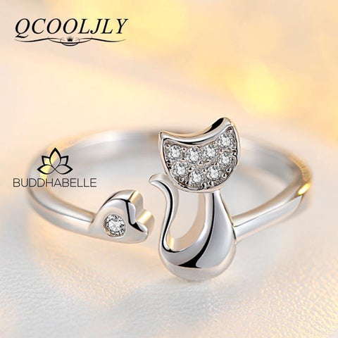 Cat Shape Wedding/engagement Ring (Cz) Jewelry