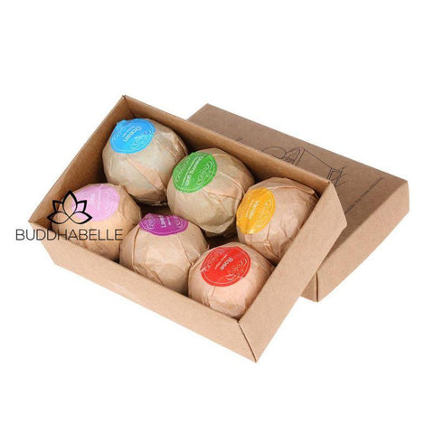6 Piece Organic Bath Bomb Gift Set And Body