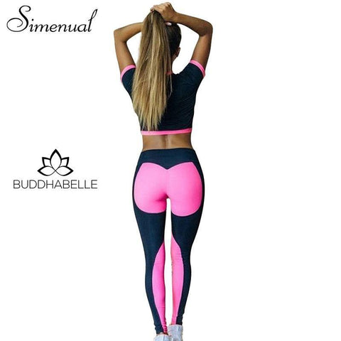 Summer Patchwork Two Piece Set Athletic