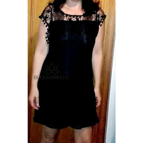 Mini Lace Summer Dress Womans Tops
