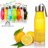 650Ml Water Bottle With Fruit Infusion Athletic