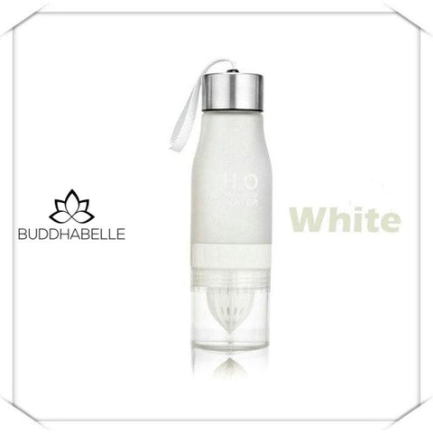 650Ml Water Bottle With Fruit Infusion 0.65L / White Athletic