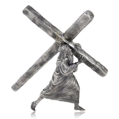 The Passion: The Cross He Bears - Silver Statues