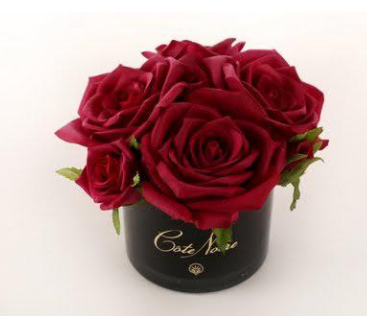 Perfumed Natural Touch 5 Roses in Black