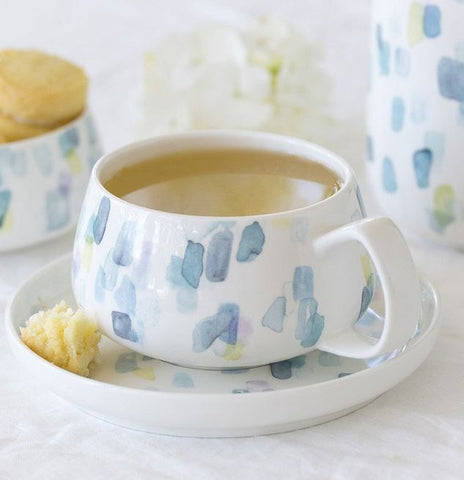 Floral Reef Cup & Saucer Geo