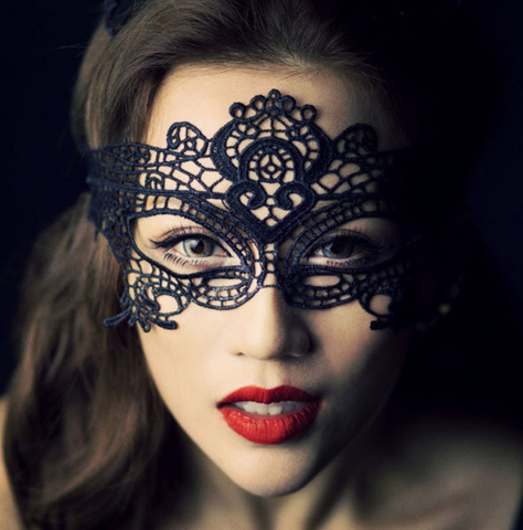 Masquerade Black Lace Mask -2