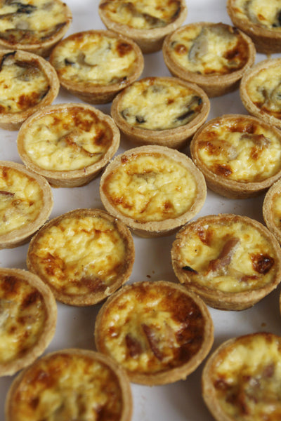 Mini Quiches $80 for 32 pieces