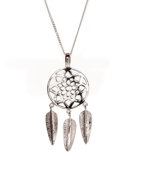 Pretty Silver Dream Catcher