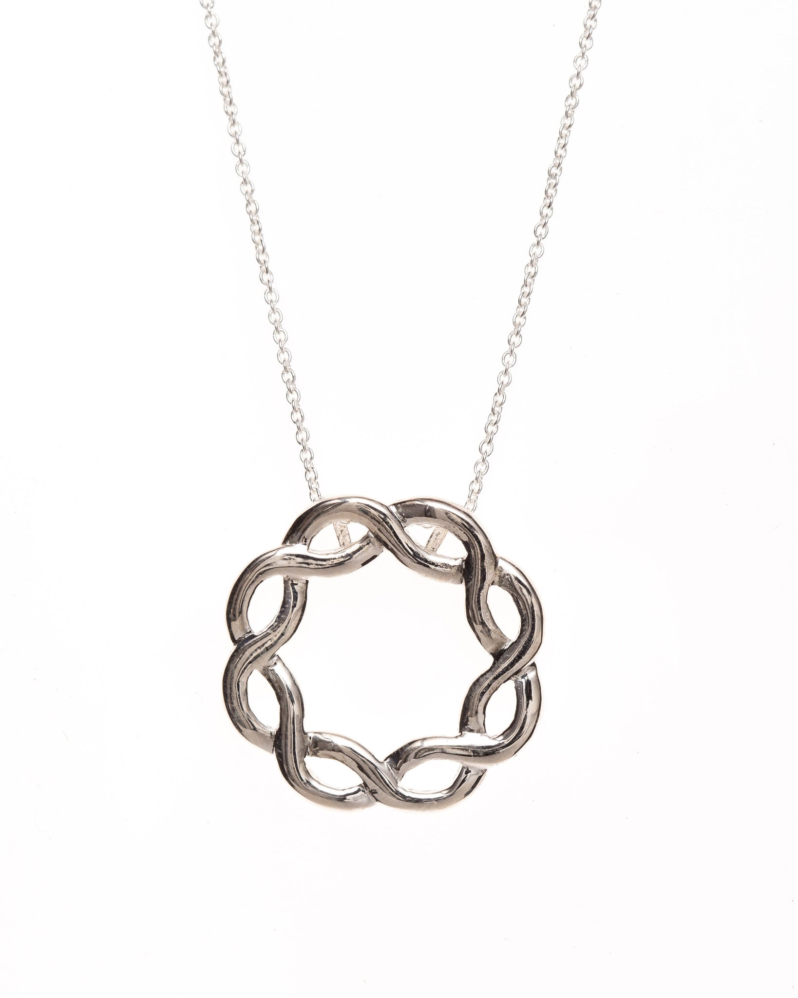 Pretty Silver Infinite Circle of Love