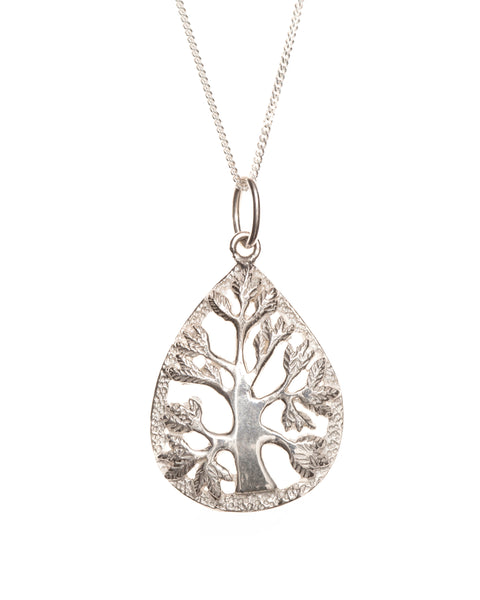 Pretty Silver Family Tree Pendant