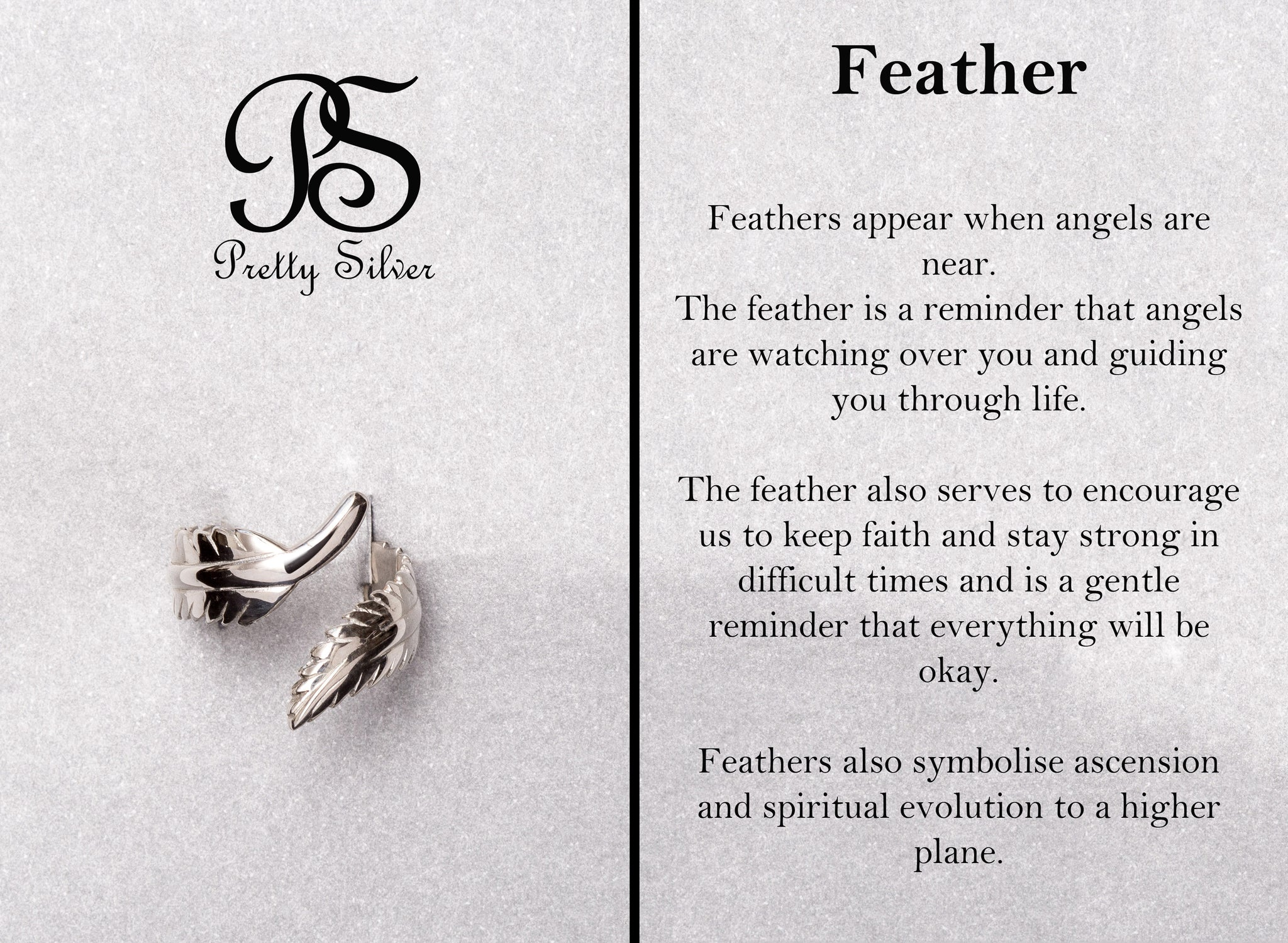 Pretty Silver Feather Ring