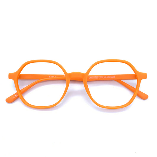 Captivated Eyewear Anti-Blue Reading Glasses - Edith Orange